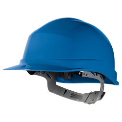 Casque de chantier bleu simple Réf: ZIRC1BLD (C/40PCS) ** DELTAPLUS