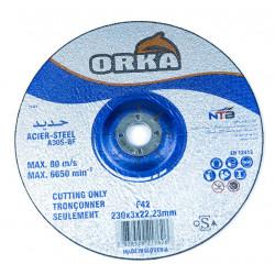 Disque a couper acier 230 x 3 ( b/25 pcs ) ** ORKA